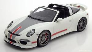 【送料無料】模型車 モデルカー スポーツカー グアテマラポルシェタルハイテクアートホワイトシルバーレッド118 gt spirit porsche 911 991 targa tech art whitesilverred