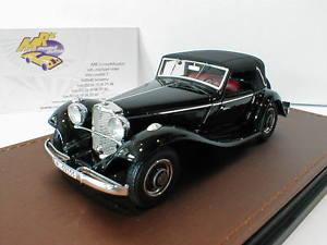 【送料無料】模型車 モデルカー スポーツカー メルセデスベンツglm 207302 mercedesbenz 290a cabriolet closed baujahr 1936 schwarz 143