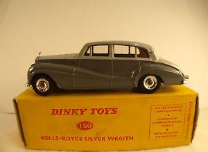 【送料無料】模型車 モデルカー スポーツカー ロールスロイスシルバーdinky toys gb n 150 rolls royce silver wraith en boite jamais jou nmib