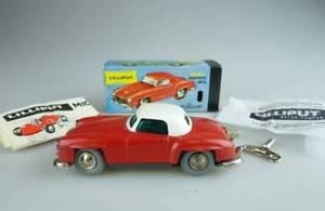 【送料無料】模型車 モデルカー スポーツカー マイクロレーサーメルセデスボックスlilliput schuco micro racer 1044 mercedes b 190 sl rot wei mit box 145 104448
