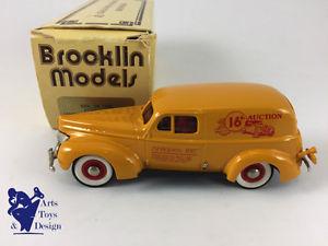 【送料無料】模型車 モデルカー スポーツカー フォードヴァンジェームズオークション143 brooklin 9x 1940 ford van james leake 16th auction 1988 1 of 140