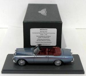 【送料無料】模型車 モデルカー スポーツカー ネオスケールネオベントレーコンチネンタルパークneo 143 scale neo44161 bentley siii continental mulliner park ward blue