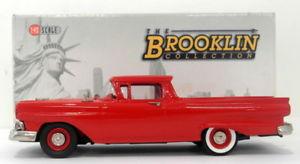 【送料無料】模型車 モデルカー スポーツカー スケールフォードbrooklin 143 scale brk108 1957 ford ranchero flame red