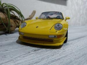 【送料無料】模型車 モデルカー スポーツカー ポルシェモデルporsche 993 gt2 jaune 118 ut model
