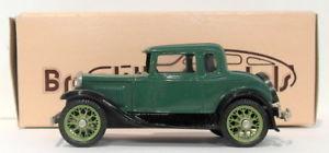 【送料無料】模型車 モデルカー スポーツカー スケールモデルクーペダークグリーンbrooklin 143 scale brk5a 003a  1930 model a coupe dark green