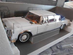 【送料無料】模型車 モデルカー スポーツカー メルセデスベンツホワイトサンスターmercedes benz 600 landaulet weiss white w100 pullman sunstar rar 118