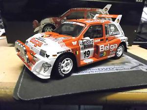 【送料無料】模型車 モデルカー スポーツカー テキサスオースティンラリー#サンスターaustin mg metro 6r4 rallye grb rac 1986 19 duez belga sms rar sunstar 118