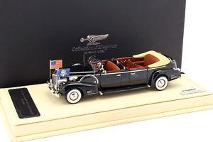 【送料無料】模型車 モデルカー スポーツカー キャデラックシリーズブラックリムジンクイーンメリーcadillac series 90 v16 presidential limousine queen mary baujahr 1938 schwarz 1