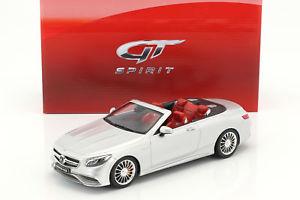 【送料無料】模型車 モデルカー スポーツカー メルセデスベンツメタリックシルバーグアテマラmercedesbenz amg s 65 convertible baujahr 2017 silber metallic 118 gtspirit
