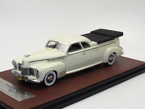 【送料無料】模型車 モデルカー スポーツカー キャデラックミラーカーホワイトglm 1941 cadillac miller meteor flower car funeral car hearse white 143