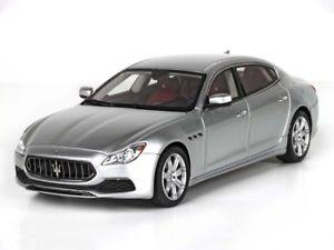 【送料無料】模型車 モデルカー スポーツカー マセラティマセラティクアトロポルテマイグランルッソbbr maserati quattroporte my17 granlusso 2017 grigio 143 bbrc192c