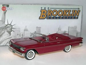 【送料無料】模型車 モデルカー スポーツカー ポンティアックカタリナコロナドレッドbrooklin brk 205 1960 pontiac catalina convertible coronado red 143