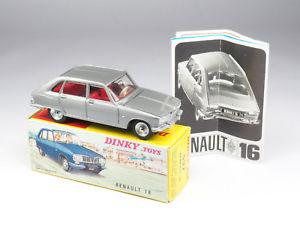 【送料無料】模型車 モデルカー スポーツカー ルノーダンロップフランスdinky toys 537 renault 16 dunlop en boite dorigine avec dpliant france