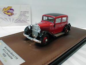 【送料無料】模型車 モデルカー スポーツカー メルセデスベンツサロンglm 207201 mercedesbenz 170 w15 limousine baujahr 1935 in rot schwarz 143