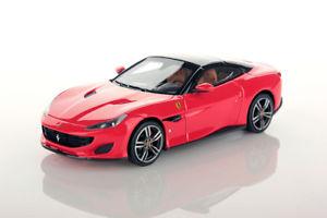 【送料無料】模型車 モデルカー スポーツカー ロッソスクーデリアフェラーリポルトフィーノネロスマートferrari portofino rosso scuderia tetto nero 143 ls480g looksmart