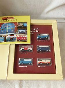 【送料無料】模型車 モデルカー スポーツカー コレクタセット8252 brekina 200 set sammlerschatz 3 5 x vw bulli t2