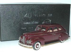 【送料無料】模型車 モデルカー スポーツカー ナッシュアンバサダールビーレッドbrooklin brk 187x 1939 nash ambassador eight anniversary special ruby red, 143