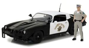 【送料無料】模型車 モデルカー スポーツカー シボレーカマロカリフォルニアハイウェイパトロールvoiture chevrolet camaro z28 california highway patrol chp 1979 avec figurine