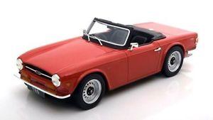 【送料無料】模型車 モデルカー スポーツカー ロードスターハイエンドtriumph tr6 roadster rot red 1968 1976 resin ls collectibes highend 118