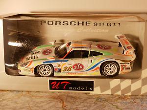 【送料無料】模型車 モデルカー スポーツカー モデルグアテマラレーシングコレクションut models 911 gt1 racing collection art39817