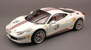 【送料無料】模型車 モデルカー スポーツカー フェラーリイタリアチャレンジエリートエディションモデルホットホイールferrari 458 italia challenge white elite edition 118 model x5487 hot wheels