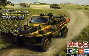 【送料無料】模型車 モデルカー スポーツカー ヒーローホビーキットドイツタイプスカラhero hobby kits german schwimmwagen type 166 scala 135 codh35001