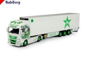 【送料無料】模型車 モデルカー スポーツカー ユーロトレーラーミュラーman tgx euro 6 xxl khlauflieger mller tekno t 69388
