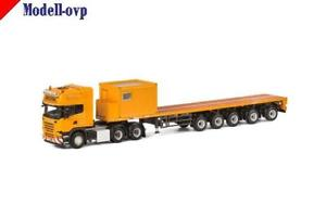 【送料無料】模型車 モデルカー スポーツカー scania r streamline topline 10 ft container wsi models wsi 041180