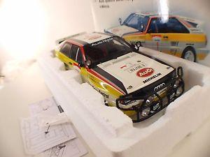 【送料無料】模型車 モデルカー スポーツカー アウディクワトロサファリラリー#ヌフミントautoart n 88401 audi quattro safari rallye 1 1984 118 neuf bote boxed mint