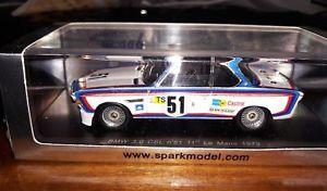 【送料無料】模型車 モデルカー スポーツカー スパーク#ルマンspark 143 bmw 30 csl 51 11th le mans 1973 s1562