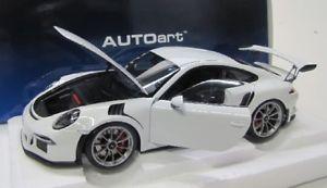 【送料無料】模型車 モデルカー スポーツカー ポルシェグアテマラルピーホワイトporsche 991 gt3 rs 2016 weiss 118 autoart