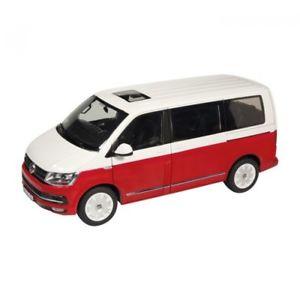 【送料無料】模型車 モデルカー スポーツカー バスnzg vw bus t6 multivan generation six rotweiss 118 954110