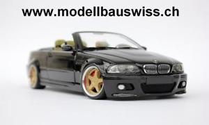 【送料無料】模型車 モデルカー スポーツカー カブリオレチューニングモデルスイスbmw m3 e46 cabriolet blau 1zu18 118 118 tuning umbau rar wwwmodellbauswissch