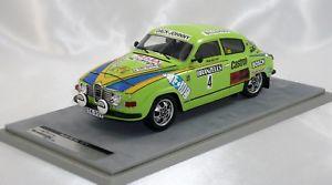 【送料無料】模型車 モデルカー スポーツカー スウェーデンラリーマウンテンテクノモデルsaab 96 v4 winner swedish rally 1976 eklundcedeberg 118 tecnomodel 75 pc only