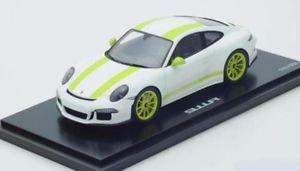 【送料無料】模型車 モデルカー スポーツカー ポルシェホワイトスパークporsche 911 991 r leichtbau 2016 weiss acid grn white spark resin rar 118