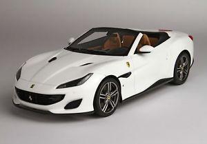 【送料無料】模型車 モデルカー スポーツカー フェラーリポルトフィーノビアンコferrari portofino avus bianco 118 p18155e bbr