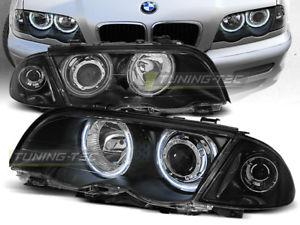 【送料無料】模型車 モデルカー スポーツカー ヌオーヴォシリーズイーグルnuovo fanali anteriori bmw e46 serie 3 19982001 s t angel eyes neri eagle eyes