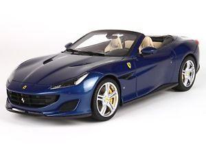 【送料無料】模型車 モデルカー スポーツカー フェラーリポルトフィーノブルアブダビferrari portofino blu abu dhabi 118 p18155d bbr