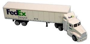 【送料無料】模型車 モデルカー スポーツカー フェデックスグラウンドトタートレーラースケールfedex ground tractor trailer 187 scale rlt1037