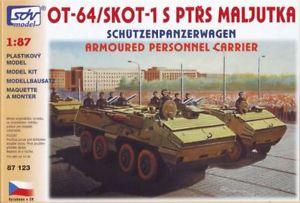【送料無料】模型車 モデルカー スポーツカー キットスケールsdv 87123 bausatz ot64 skot, spw maljutka mastab 187