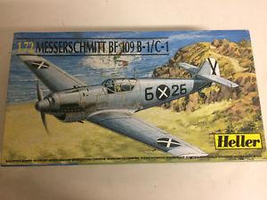 【送料無料】模型車 モデルカー スポーツカー プラスチックモデルキットスケールミットボックスplastic model kit scale 1 72 heller n 80236 messreschmitt bf 1 in open box