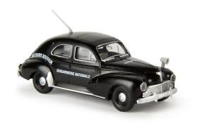 """Brekina 29055-1//87 Peugeot 203 /""""Gendarmerie/"""" Von Drummer Neu"""