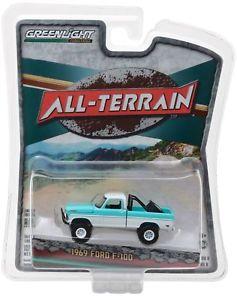 【送料無料】模型車 モデルカー スポーツカー フォードカスタムホワイトミントグリーンライト×69 ford f100 custom 4x4 whitemint 1969 **** greenlight allterrain 164 ovp