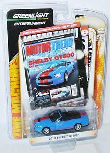 【送料無料】模型車 モデルカー スポーツカー エンターテイメントフォードシェルビーマスタングコンベンションgreenlight entertainment 2010 ford shelby mustang gt500 conv  blue 164