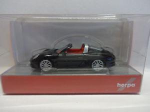 【送料無料】模型車 モデルカー スポーツカー ポルシェカレラherpa 028905 porsche 911 targa 4s schwarz 187 neu