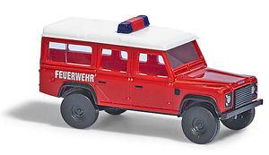 【送料無料】模型車 モデルカー スポーツカー ゲージランドローバーディフェンダーbusch 8375 spur n, land rover defender feuerwehr neu in ovp