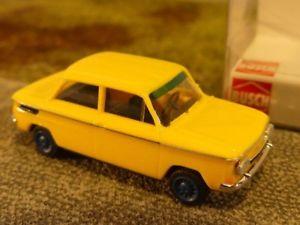 【送料無料】模型車 モデルカー スポーツカー 187 busch nsu 1000tt gelb 48415