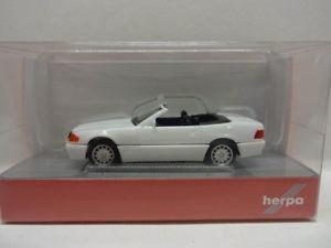 【送料無料】模型車 モデルカー スポーツカー メルセデスベンツホワイトherpa 028851 mb mercedes benz 500 sl r129 wei 187 neu