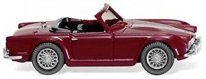 【送料無料】模型車 モデルカー スポーツカー パープルwiking 081505 triumph tr4 purpurrot 187_neuovp