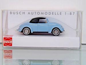 【送料無料】模型車 モデルカー スポーツカー オリジナルボックスbusch 46732 h0 187 vw hebmller, cabrio geschlossen, blau neu in ovp